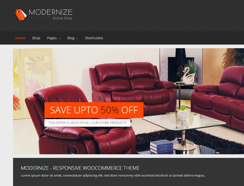 Modernize WordPress Theme Screenshot